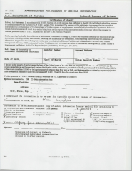 BOP Authorization Form For Release Of Medical Records